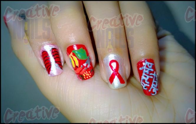 TB Awareness Nail Art