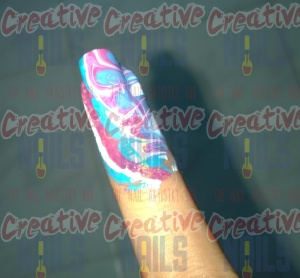 Water Marble Nail Design on your finger