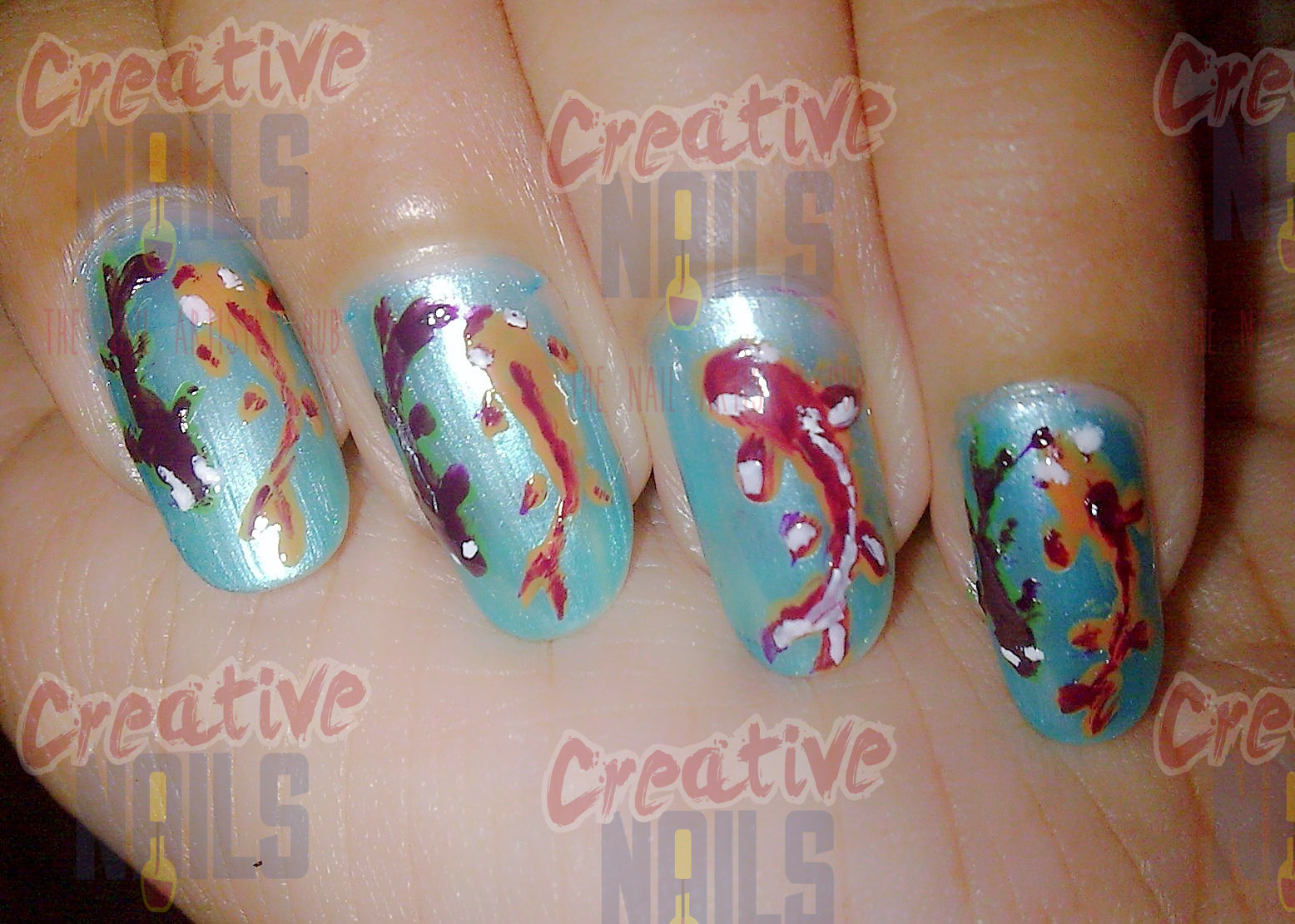 Fish on Nails Nail Art! – Creative Nails