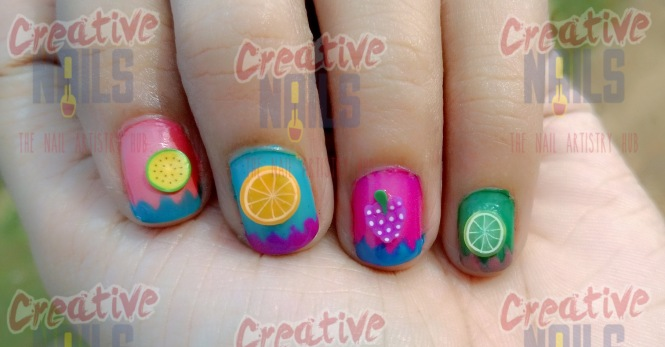 Fresh Fruits Nail Art