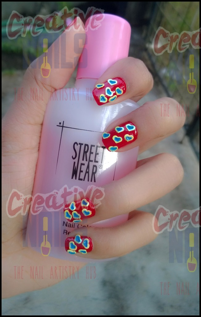 Cute Hearts Nail Design