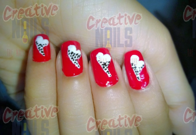 Happy propose day nail art