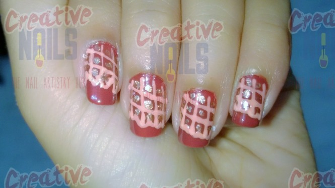 Happy chocolate day nail design