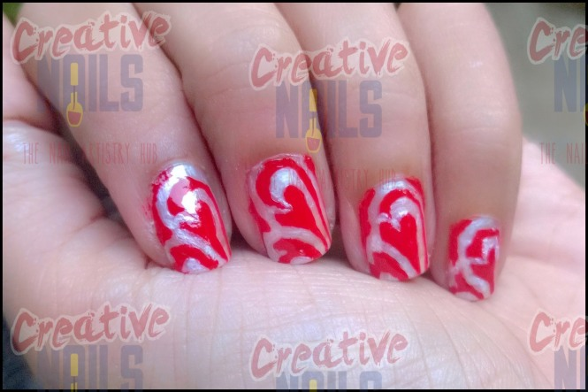 Valentine day special nail art