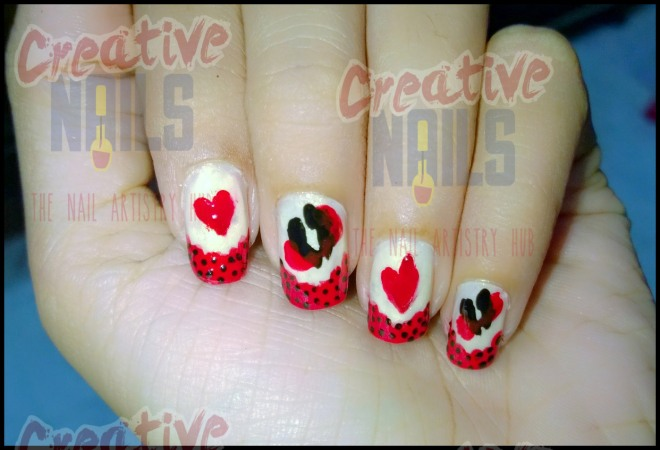 Hug Day Nail Art