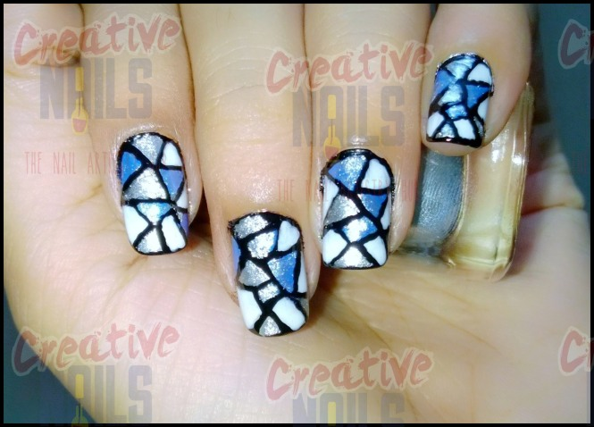 Stained Glass Nail Design
