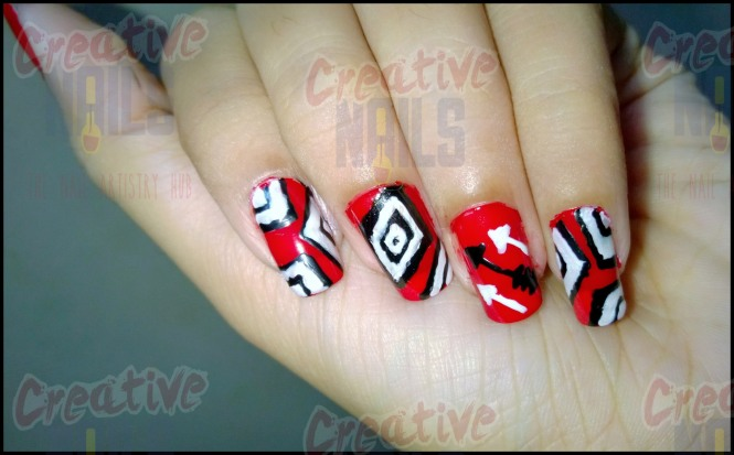 Powerful Colors Nail Art