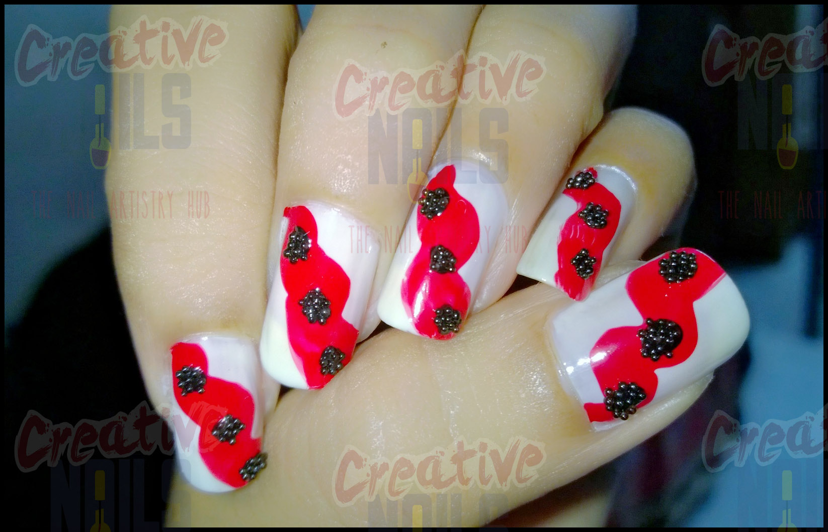 White Red Black The Ultimate Color Combination Nail Art