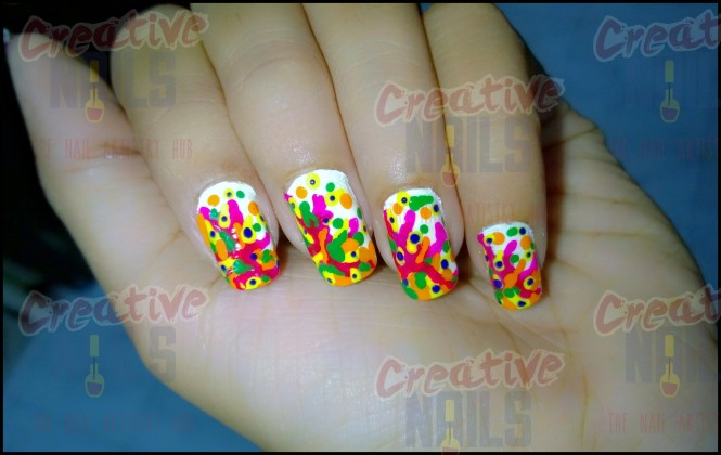 Holi On Nails