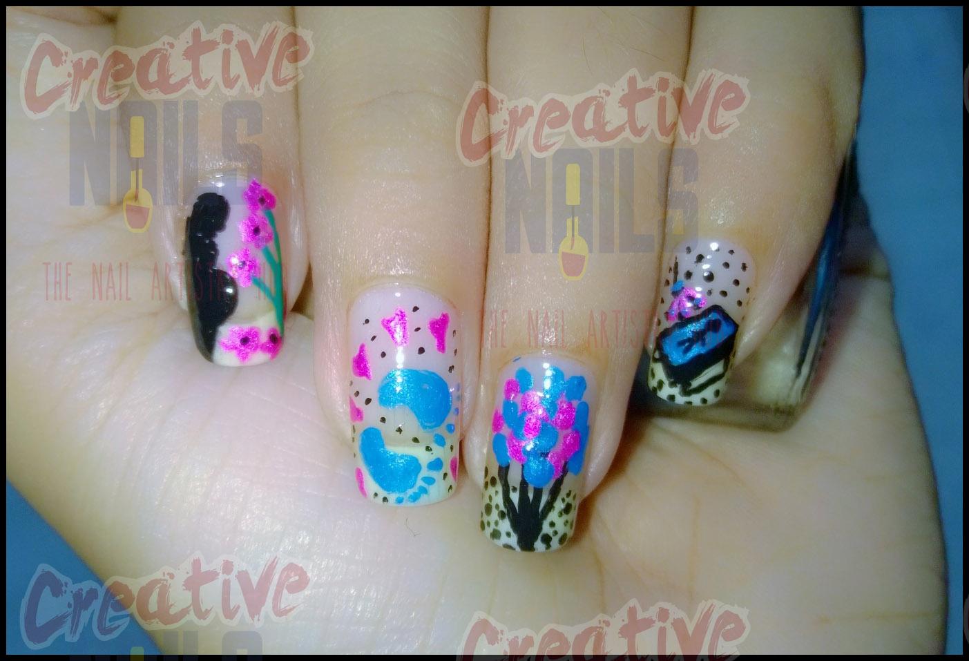 Baby Shower Nail Art Creative Nails