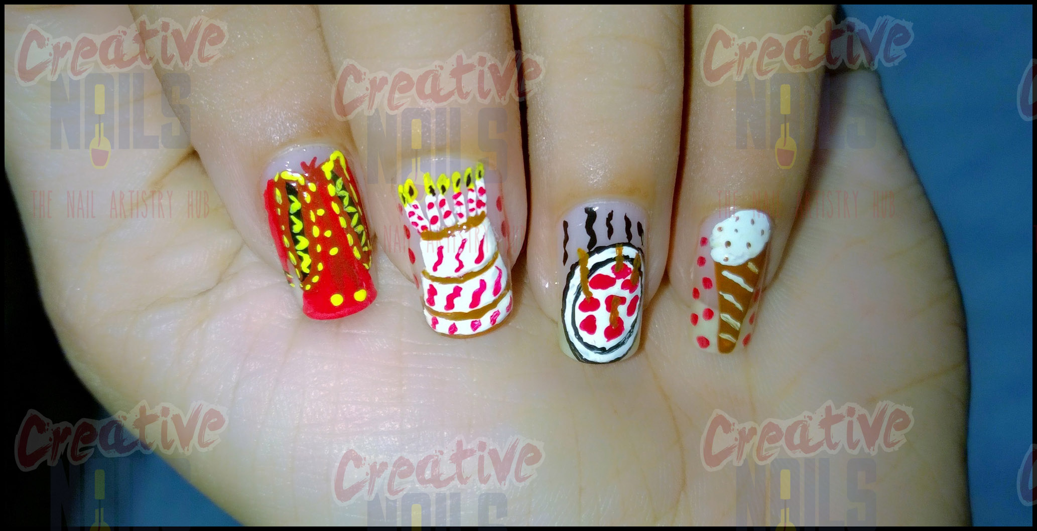 My Birthday Nail Art! – Creative Nails