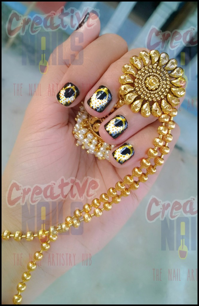 Jhumka on Nails