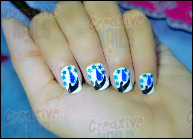 Save Water Nail Design