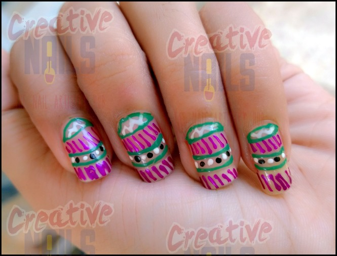 Mobile Cover Nail Design