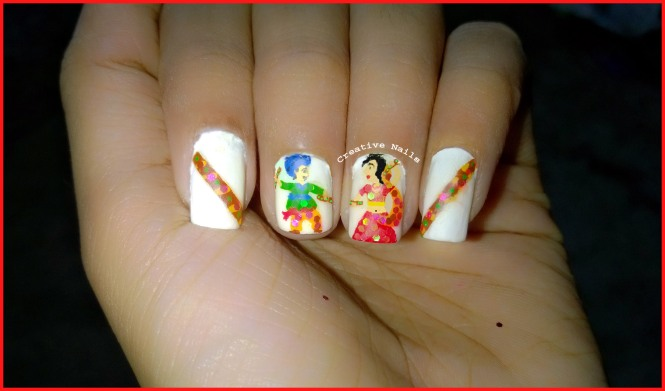 Daandiya Raas On Nails