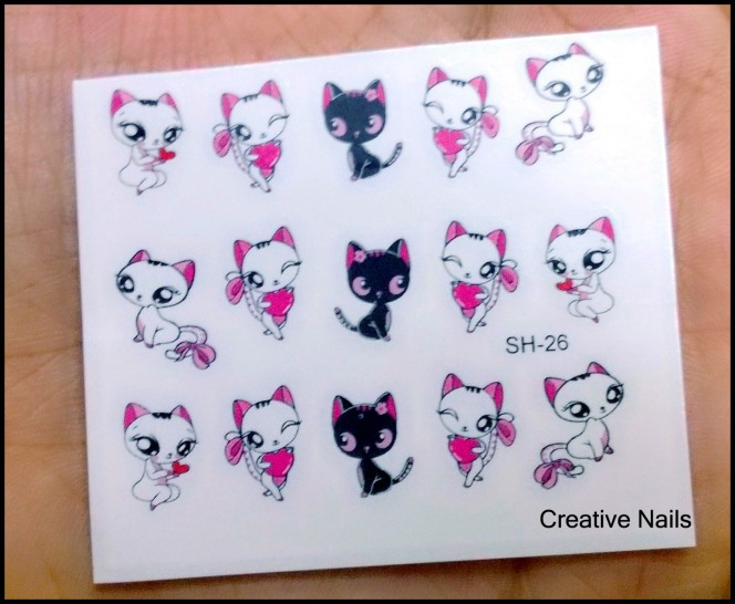 Cute Cat Water Decals