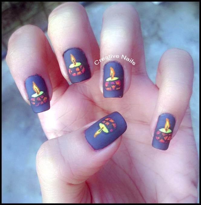 Diwali Nail Art