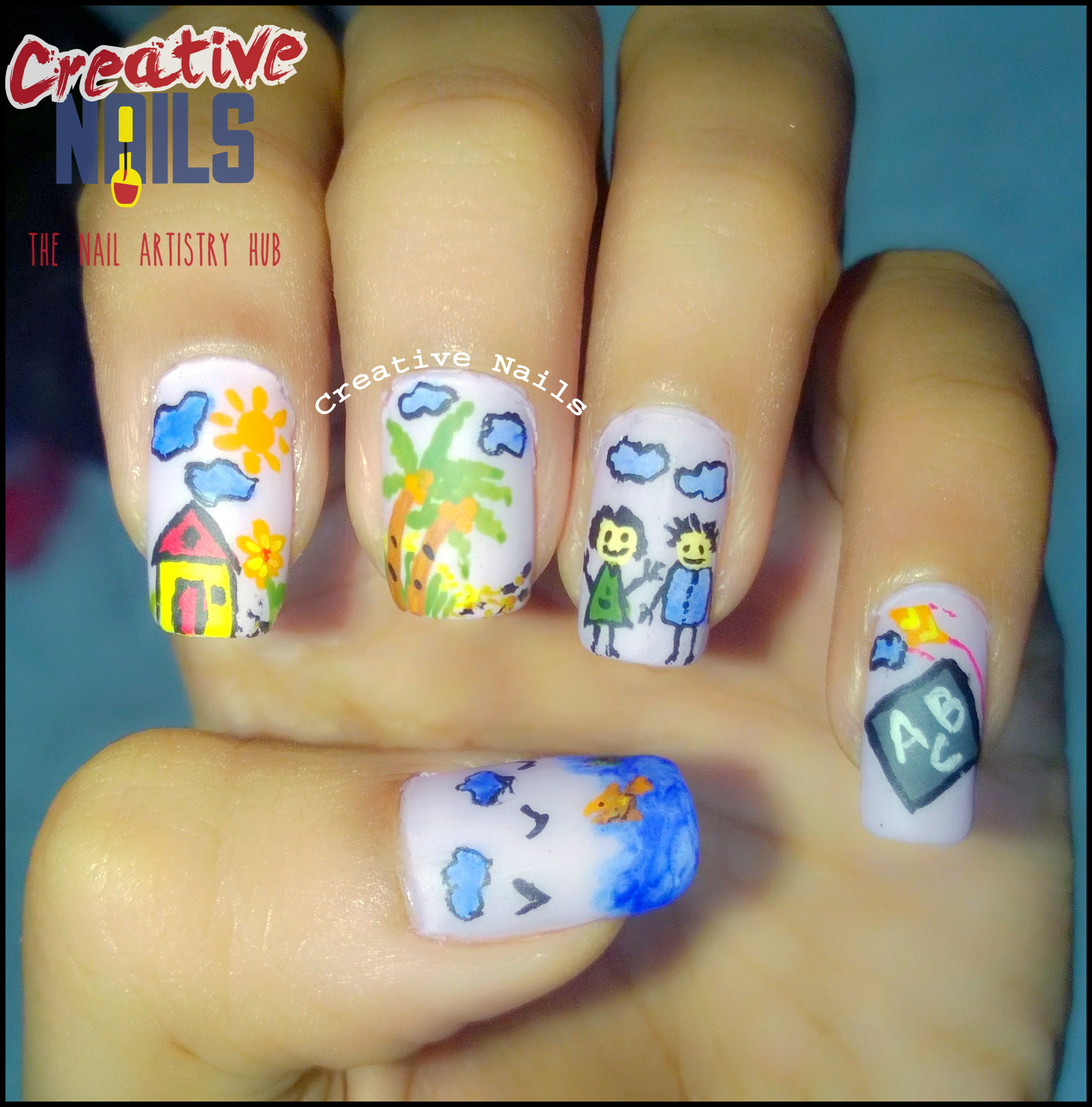 Childrens Day Special Nail Art Creative Nails