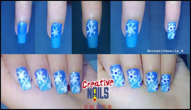 Do It Yourself 2 (DIY) - Snowflakes Nail Art
