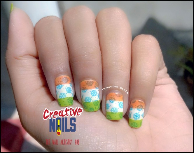 Republic Day 2016 Nail Art