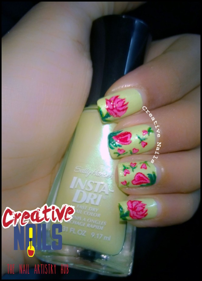 Rose Day Nail Art