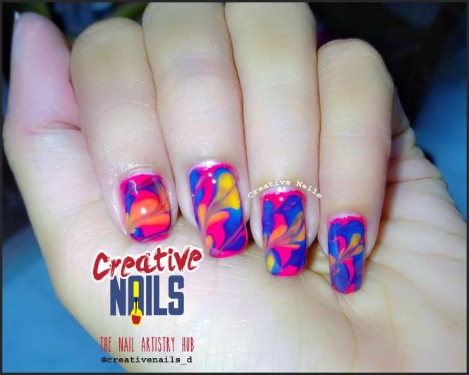Drag Marble Nail Design!