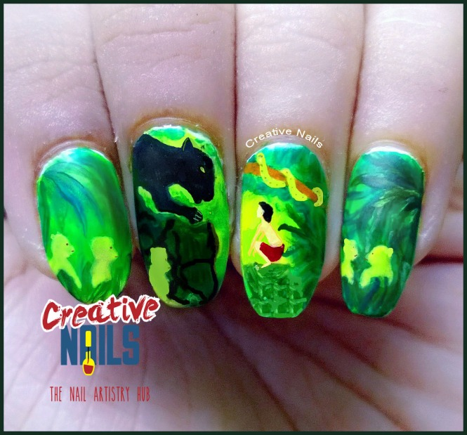 THE JUNGLE BOOK NAIL ART