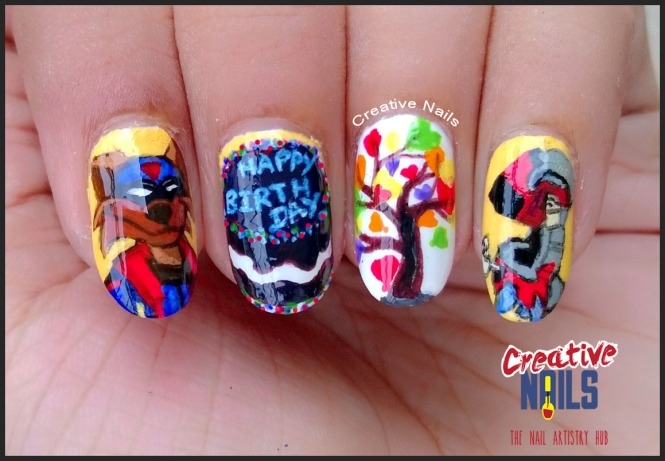 Birthday Nail art with Swat Kats theme