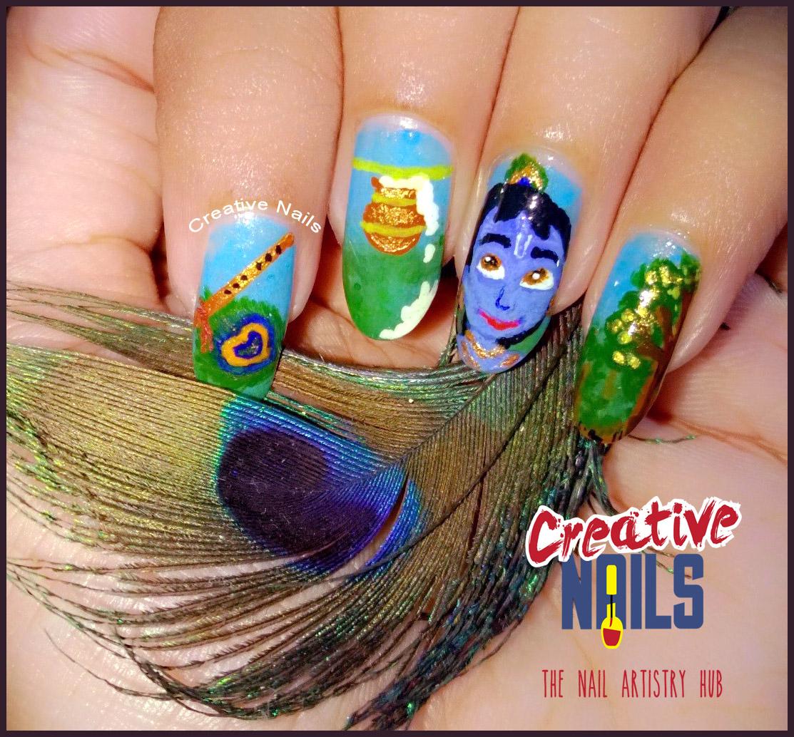 Janmastami Nail Art