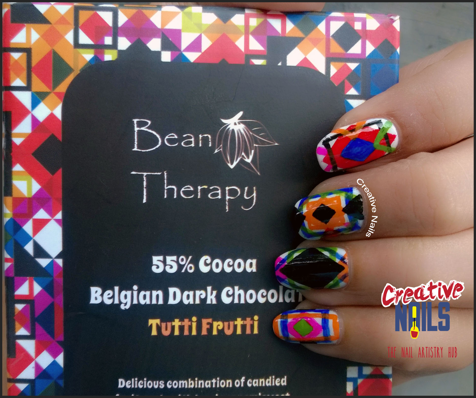 Bean Therapy Chocolate Wrapper Nail Art