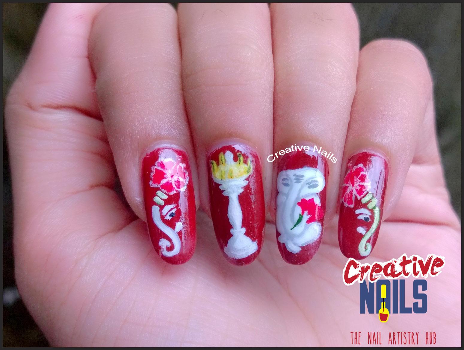 Ganesh Chaturthi 2016 Nail Art!