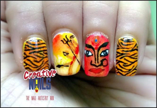 Navratri Nail Art