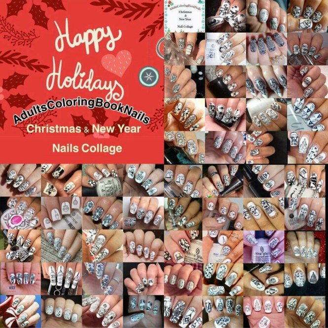 AdultsColoringBook Nail Art Challenge