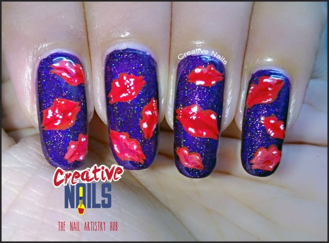 Kiss Day 2017 Nail Art