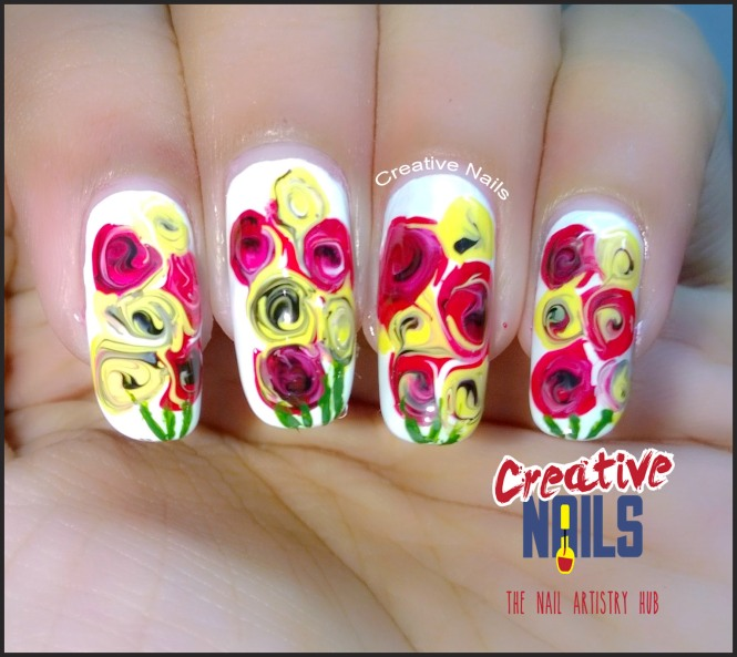 Rose Day 2017 Nail Art