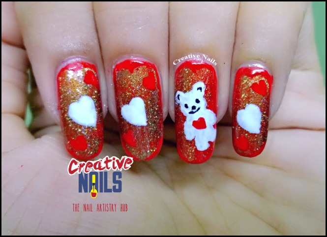 Teddy Day 2017 Nail Art!