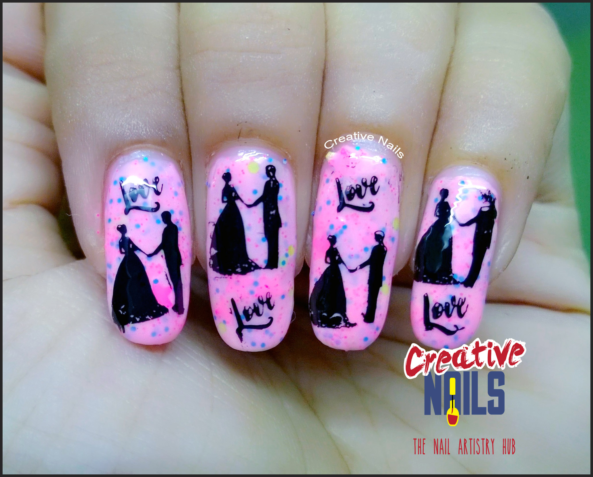 Valentine'e Day 2017 Nail Art