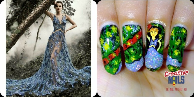 Inspirational Pic Nail Art Challenge -1!!
