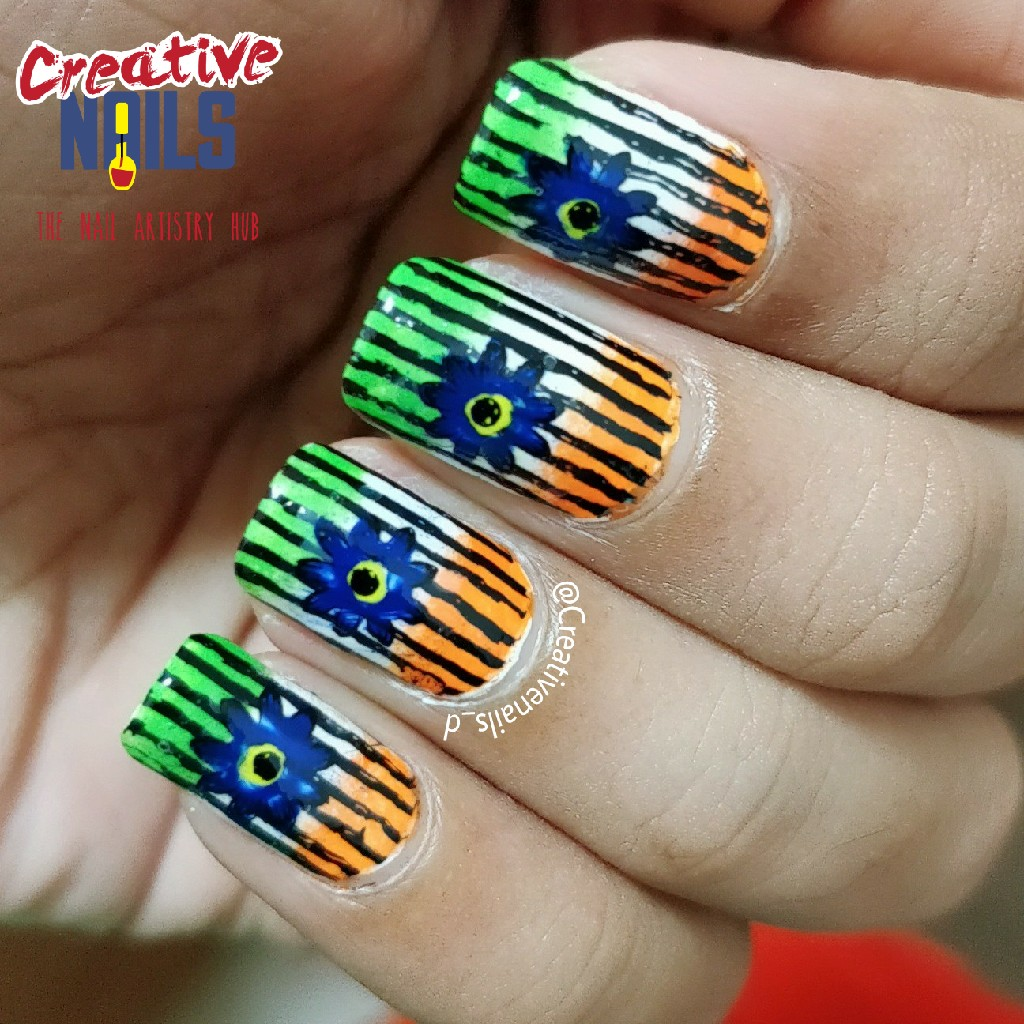 Independence day 2017 nail art creative nails independence day 2017 nail art prinsesfo Image collections