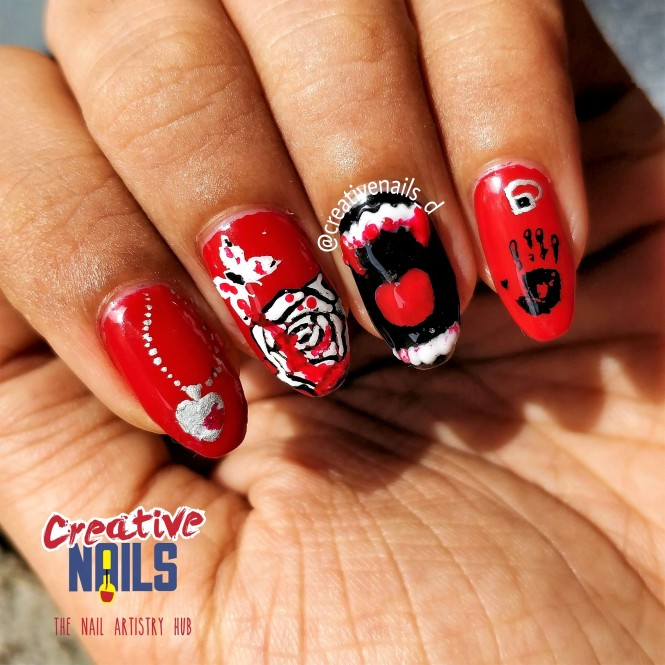 Vampire Diaries Inspired Nail Art for Halloween 2017!