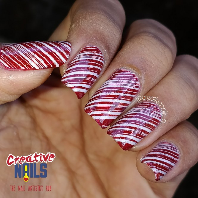 Christmas Candy On Nails