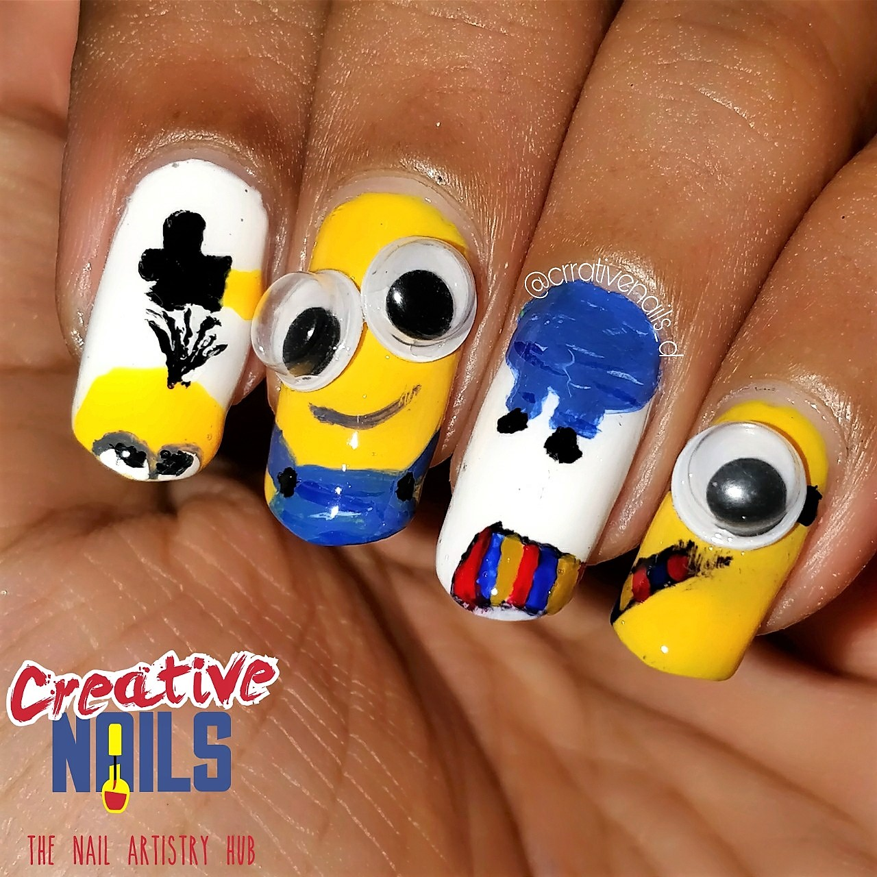New Year With Minions Nail Art!