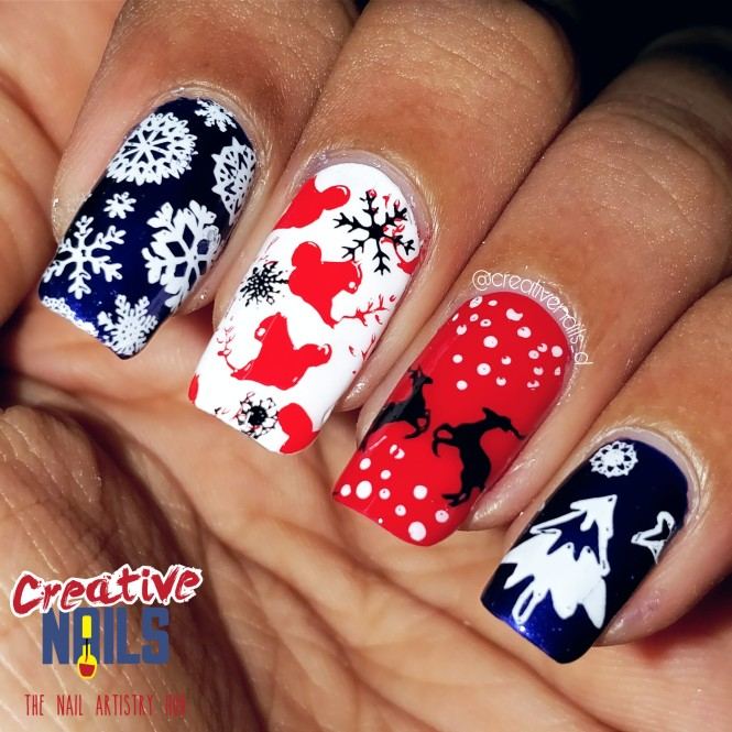 Merry Christmas 2017 Nail Art