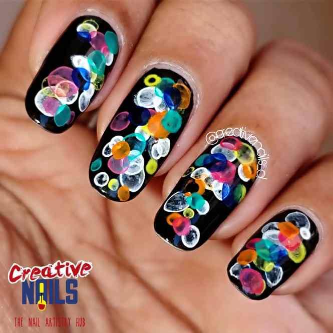 Bokeh Effect Nails