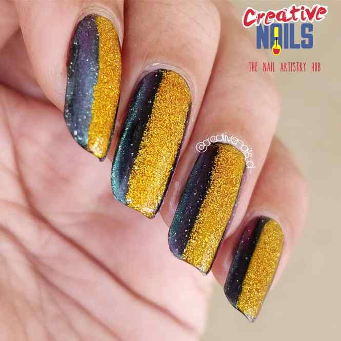 Golden Confetti And Magnetic Nail polish Combo