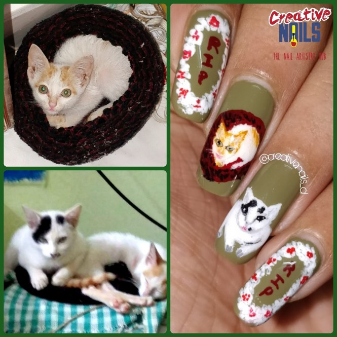 Nail Art Dedicated To My Kitties - RIP
