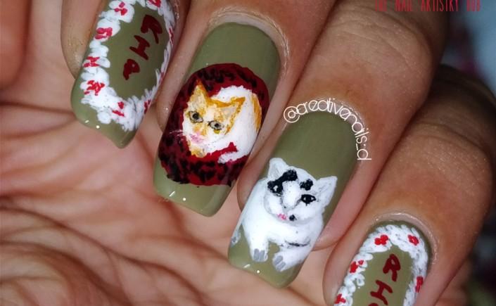 Nail Art Dedicated To My Kitties Rip Creative Nails