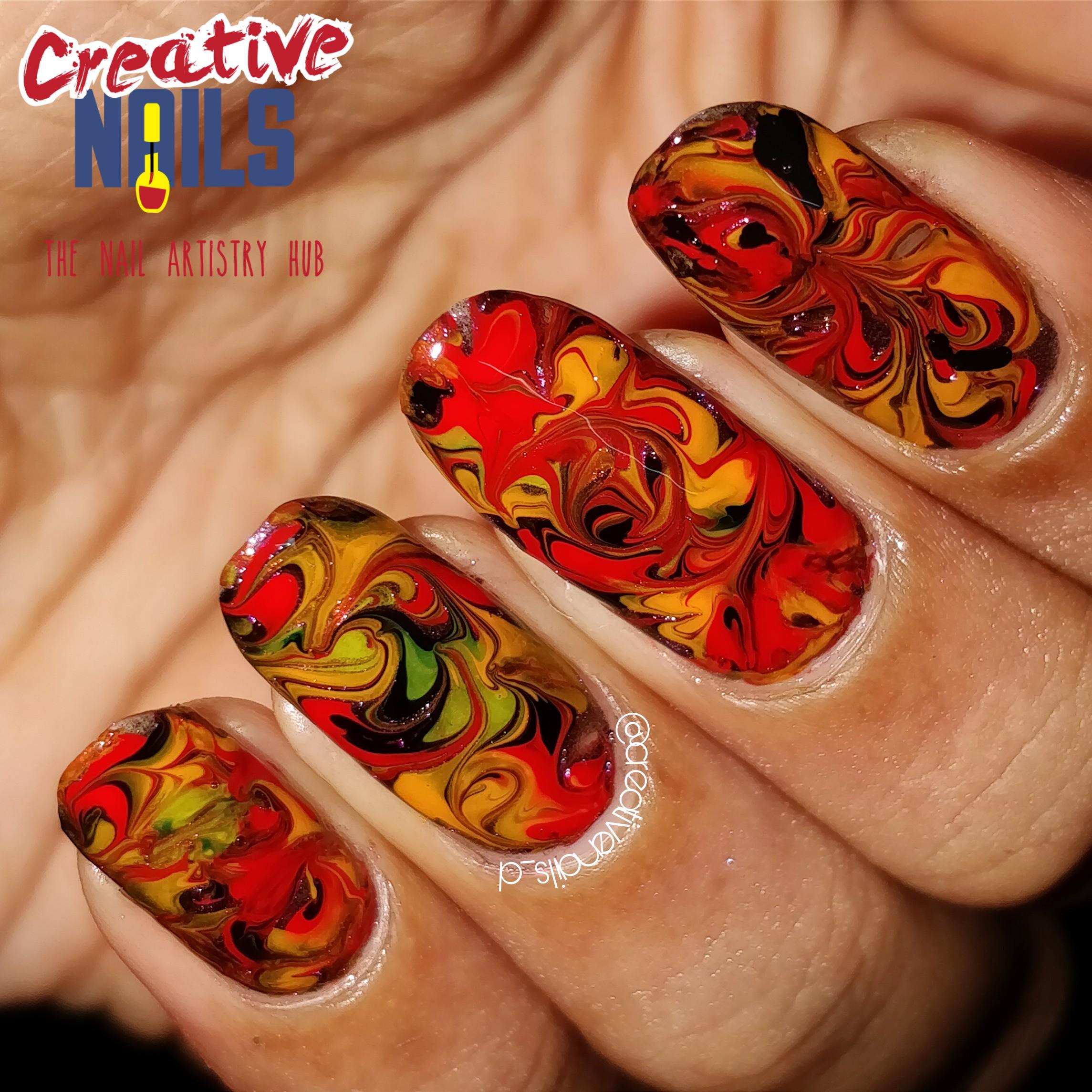 Rusty Drag Marble Nail Art!