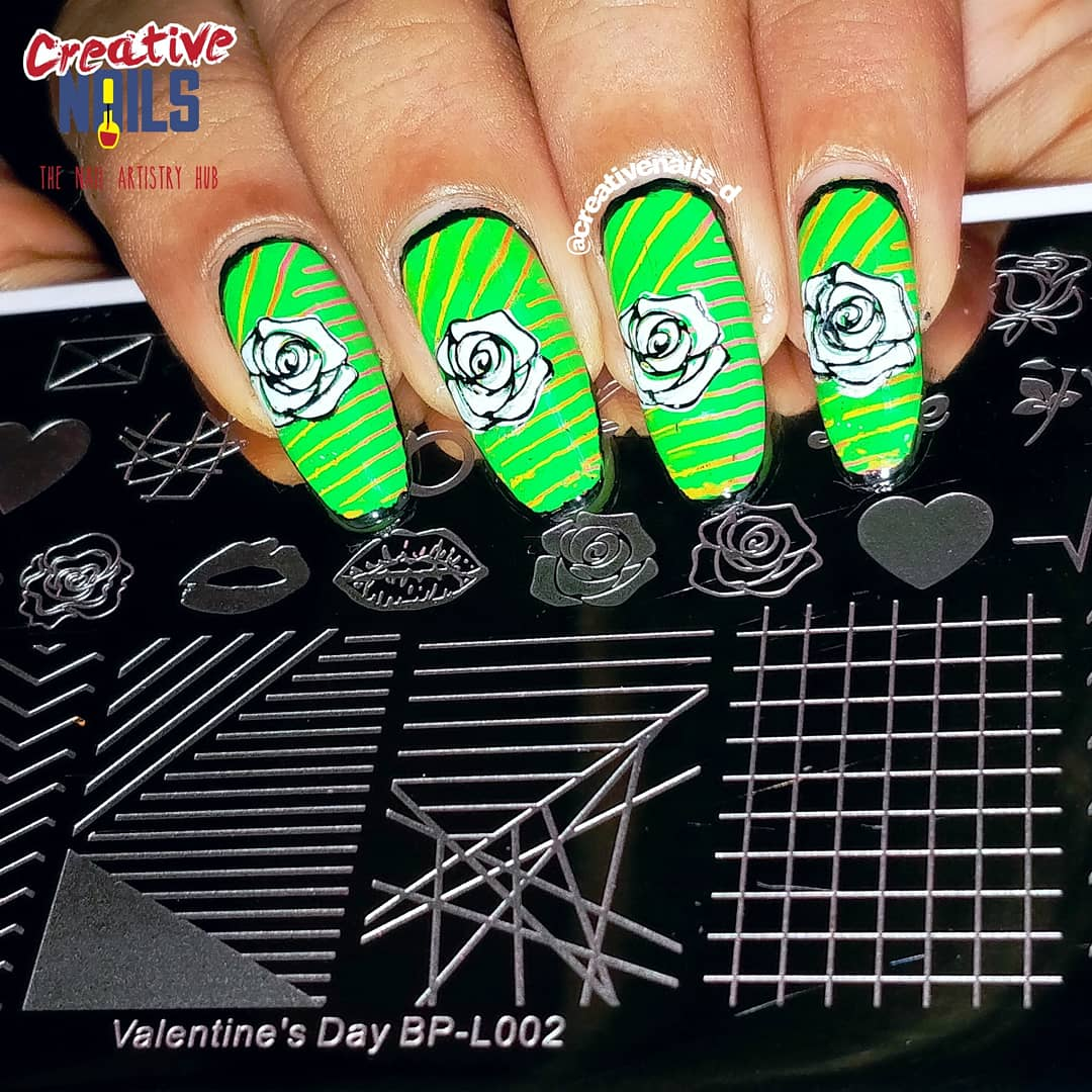 BornPrettyStore Layering Stamping Plate BP-L002 Review Nail Art