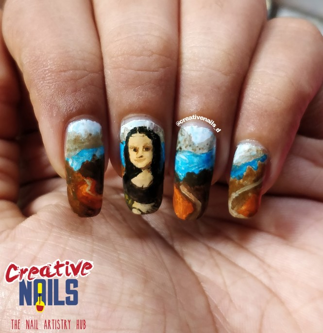 Leonardo Da Vinci's Monalisa On Nails